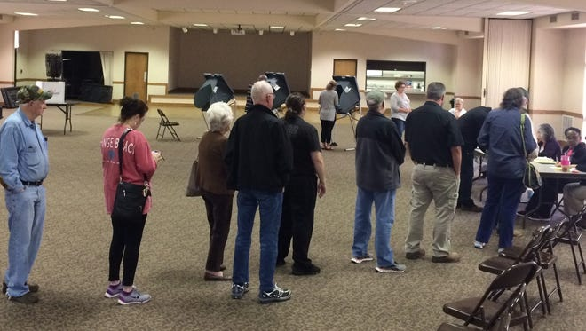 Voters at the Tennsco Community Center in Dickson on Tuesday morning.