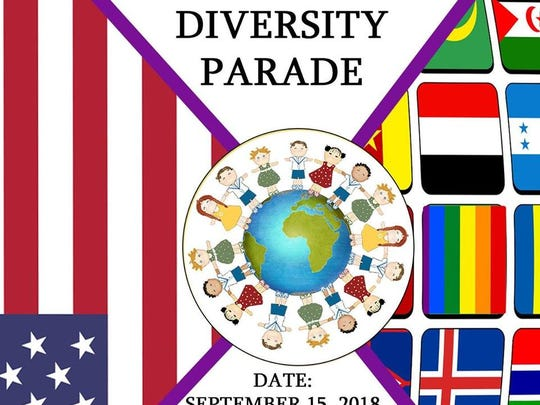 2018 Diversity Parade poster