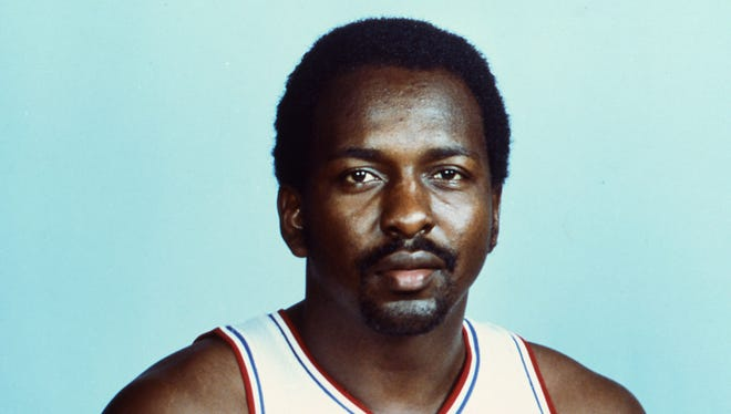 Moses Malone as a 1982 player for the Philadelphia 76ers