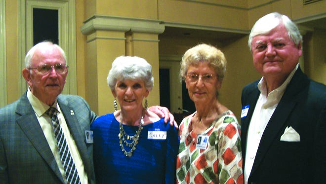 Members of the Sidney Lanier High School class of 1954 attending the reunion celebrations included Ed Godbold, Sally Slay Stevens, Alma Baker Gainey and John Bowman.