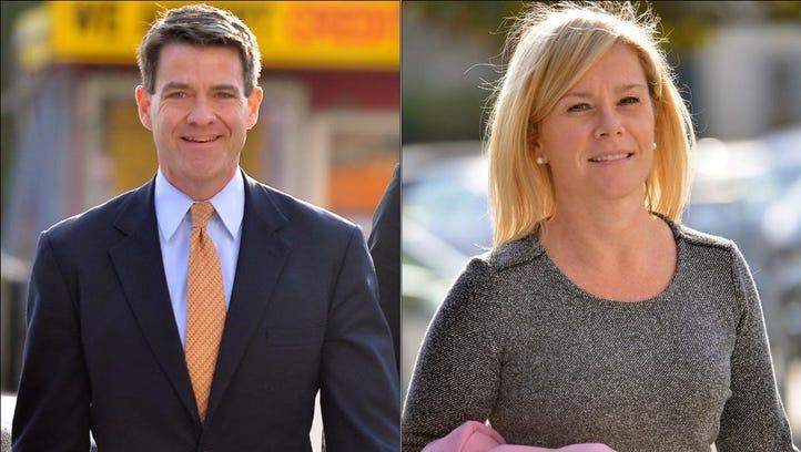 Bill Baroni and Bridget Anne Kelly outside federal