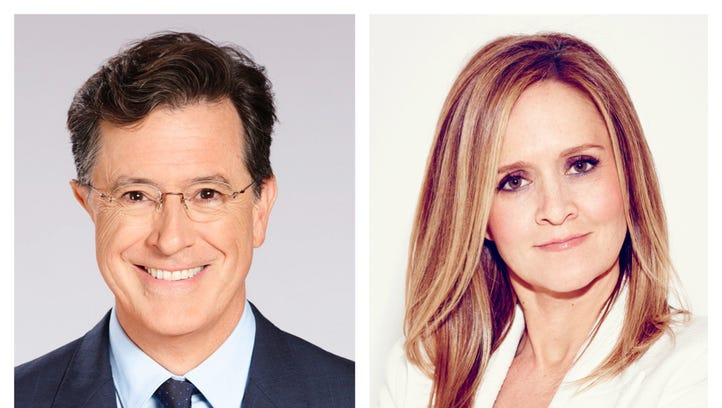 Stephen Colbert and Samantha Bee coming together for 'happy evening' and good cause