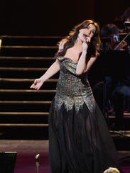 Idina Menzel performs at the Riverside Theater Sunday.