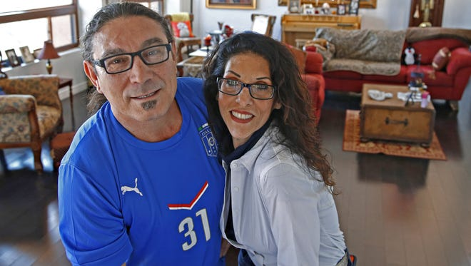 Chef Marcellino Verzino and his wife Sima inside their North Phoenix home on March 8, 2016.