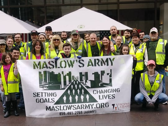 In one year Maslow's Army has grown from four members to 45 volunteers.