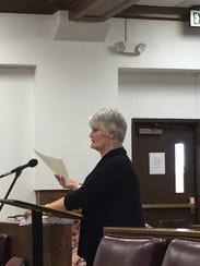 Rita Tucker addresses the Ouachita Parish Police Jury