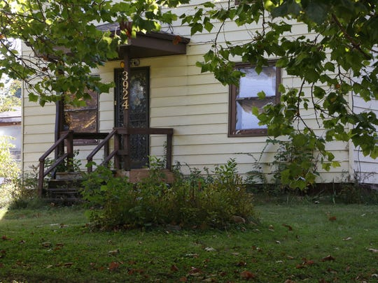 The home where the body of Rachel Pray was found after being allegedly killed by her grandson Noah Laprei on Saturday, Oct. 11, 2015 in Des Moines.