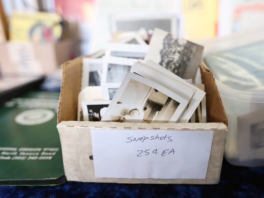 Snapshots for sale at the Salem Collectors & Flea Market Sunday, Oct. 18, 2015, at the Salem Armory. The show featured collectibles, antiques, jewelry, furniture, toys, tools and more.