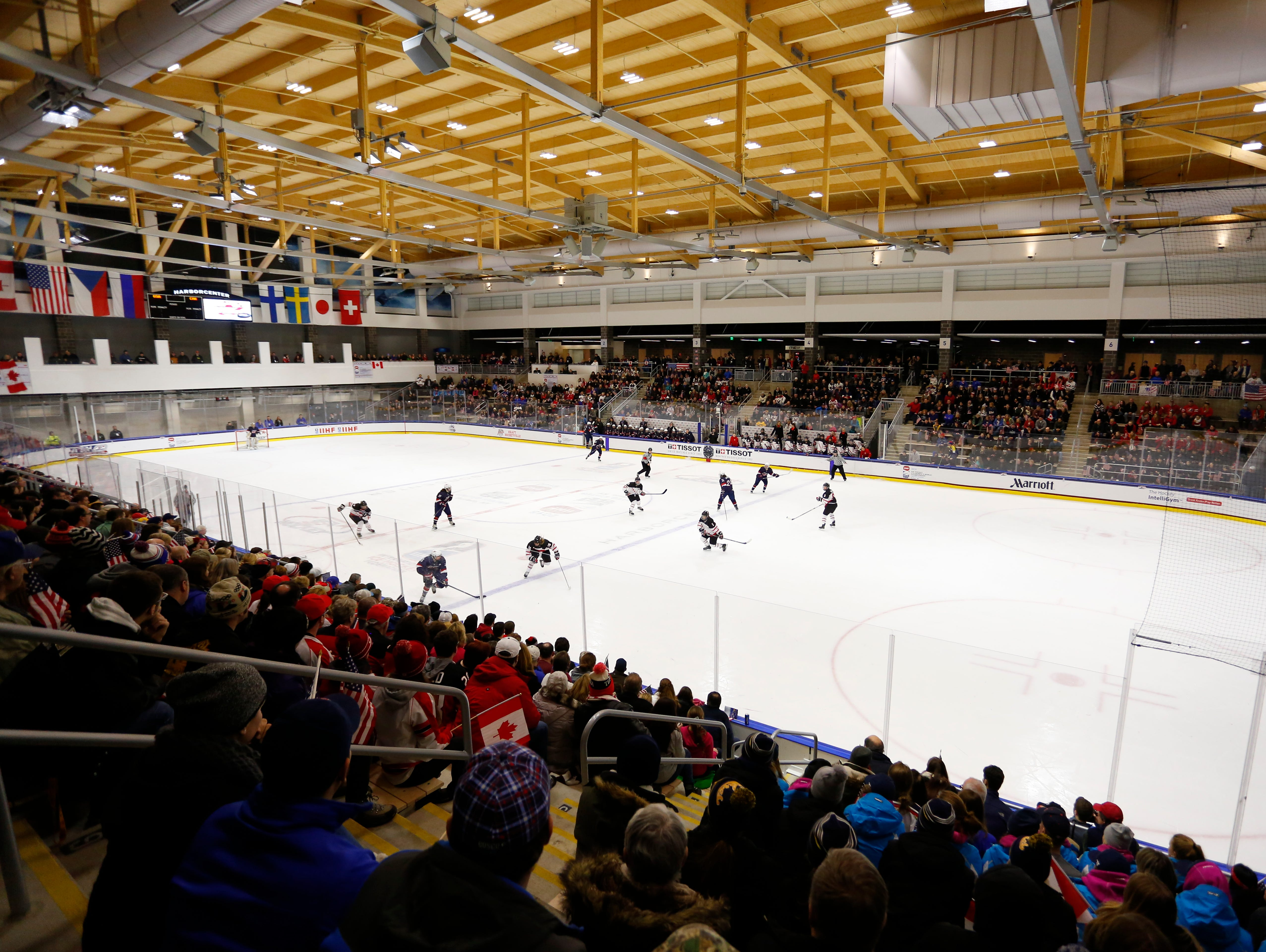 The new HARBORCENTER rink in Buffalo will be hosting the NYSPHSAA championships in March.