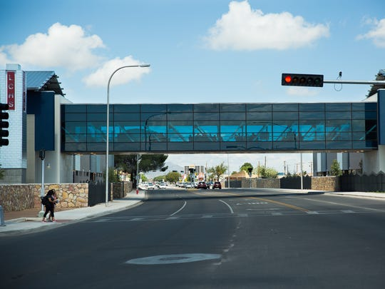 The pedestrian bridge at Las Cruces High School and median lanes are examples of  changes and improvements recommended by community and governmental groups who studied ways to improve the El Paseo Road.