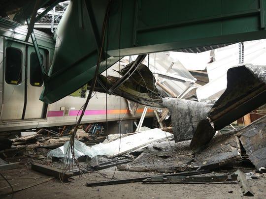 NJ Transit's Pascack Valley Line train No. 1614 sits