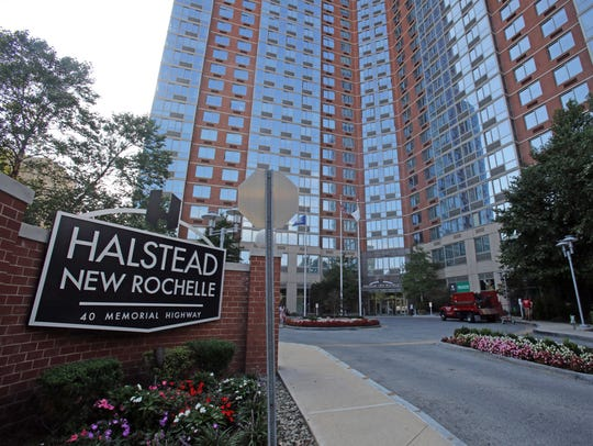 A view of the Halstead New Rochelle apartments, which