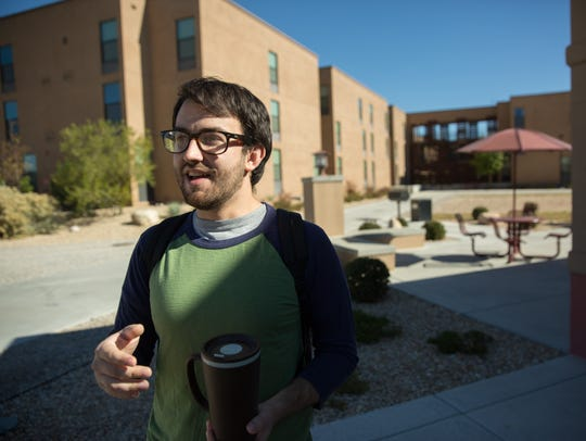 Harrison Caruso, a student at New Mexico State Univeristy