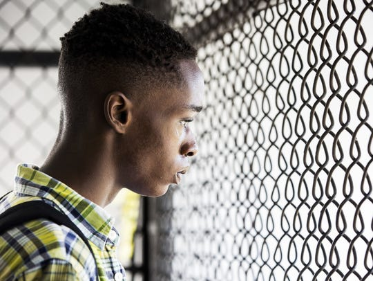 "Ashton Sanders plays the teen Chiron in the drama ""Moonlight."""