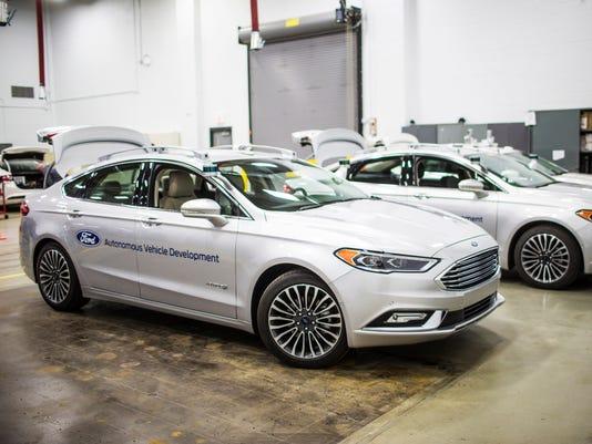 Self-driving Ford Fusion Hybrid test fleet