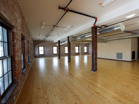 The second-floor commercial space, which will become artist studios in the redeveloped Poughkeepsie Underwear Factory, Feb. 13, 2017. The former factory is being redeveloped as a mixed use building by the Hudson River Housing.