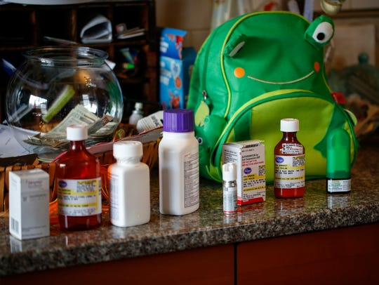 Ron Taylor lays out just some of the medication that