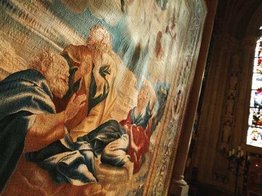 Ten tapestries — their images woven with wool and silk