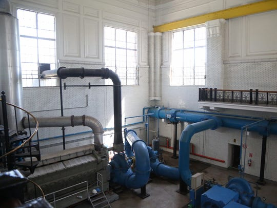 Inside the original Des Moines Water Works fleur drive