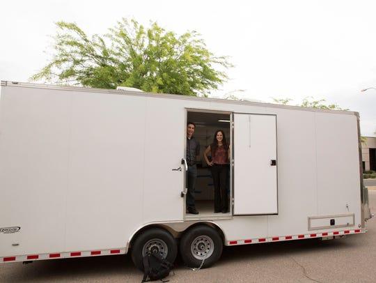The mobile dental clinic took a team of six Arizona