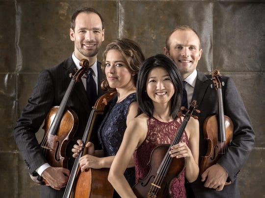 The Jasper String Quartet is, from left, Sam Quintal,