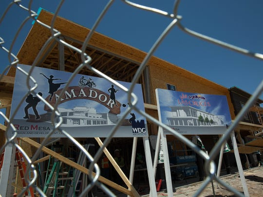 The city of Las Cruces prioritized a vibrant downtown in its five-year strategic plan, released Monday, July 17, 2017. Pictured Tuesday is construction of The Amador, a new gateway into downtown Las Cruces that will include shops, restaurants, bars and a plaza.