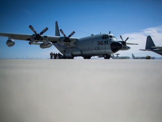 A KC-130T aircraft assigned to Marine Aerial Refueler