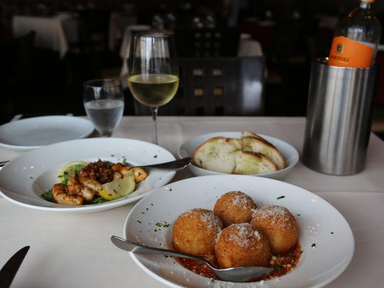 A lunchtime spread at Nico Ristorante in Windsor's Little Italy.