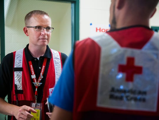 Bryan Hartmann, a Red Cross shelter manager, talks