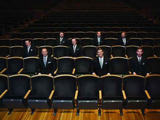 """The male vocal ensemble Cantus performs """"Three Tales of Christmas"""" at the University of Vermont on Dec. 8."""