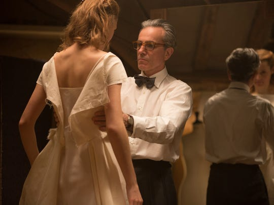 """Vicky Krieps and Daniel Day-Lewis appear in a scene from """"Phantom Thread."""""""