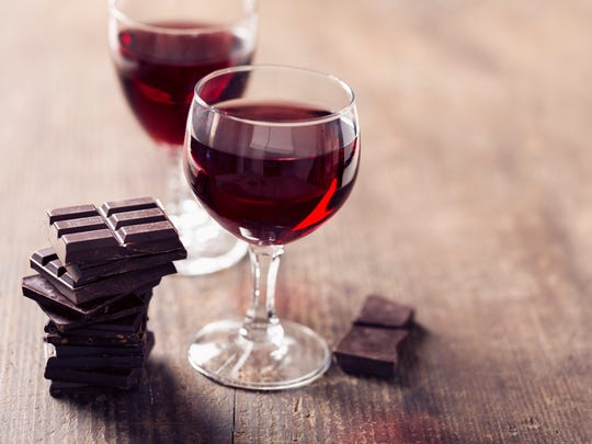 The key is the wine must be sweeter than the chocolate, otherwise, both will taste bitter.