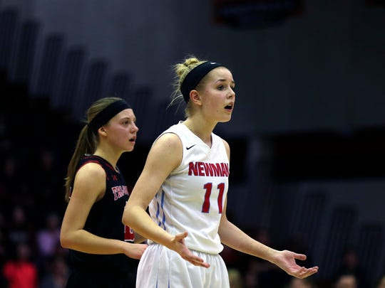 Newman Catholic senior Signe Fronek has averaged 18.2 points and 5.8 rebounds a game for the Cardinals and was a unanimous all-Marawood Conference South Division selection.