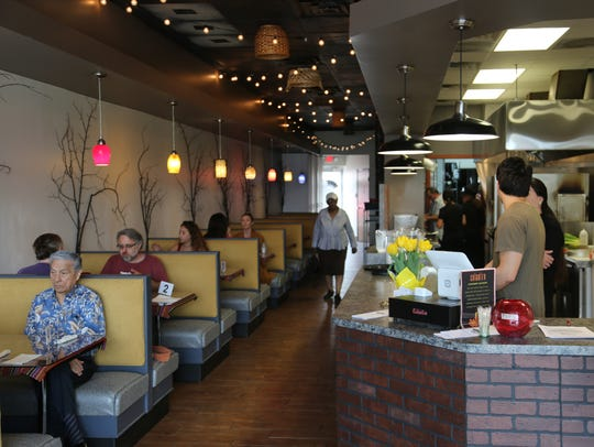 The interior of Culantro, a new Peruvian restaurant that debuted in the former Southern Belles' Bistro in Ferndale.