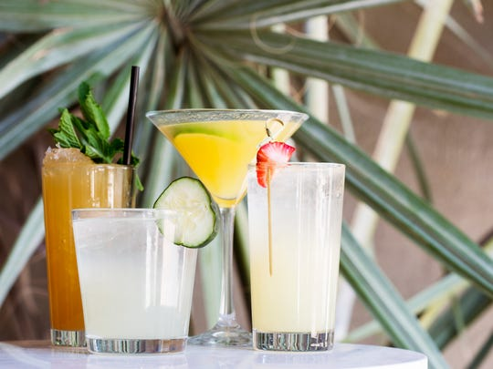 Tropical drinks you'll find on the cocktail menu at the Rafter Room, the lounge upstairs within Social Hall in Tempe.