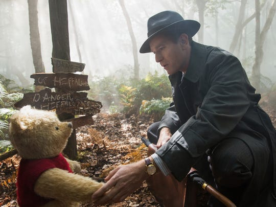 "Ewan McGregor acts opposite Winnie the Pooh in ""Christopher"