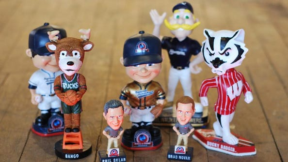 More than 5,000 bobbleheads, including these, are part