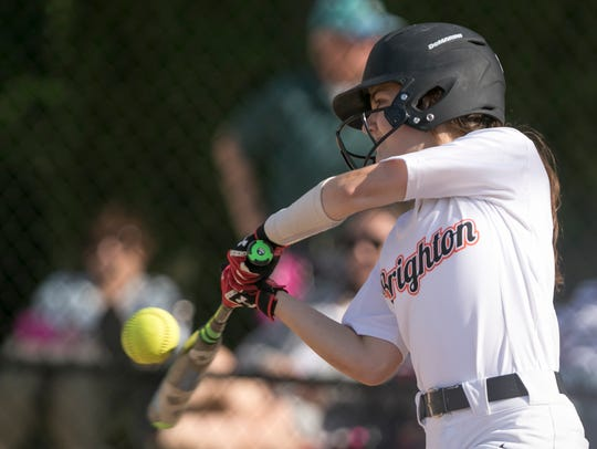 Brighton's Rachel Coughlin was 2-for-4 in the first