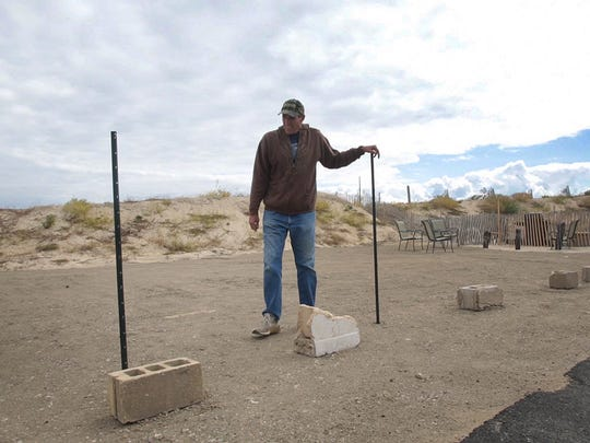 In 2014, Scott Edrington put up fencing to mark off his property where his house once stood.