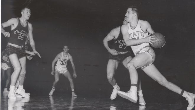 Jack Quiggle averaged 15.3 points in 1957, leading MSU to its first Final Four.