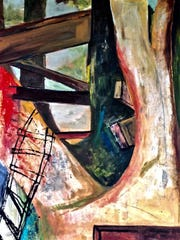 Salem painter Julie Jeanseau is showing a series of art focusing on trees and treehouses at Bush Barn Art Center through June 4.