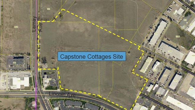 The proposed Capstone Cottages student-housing development would have 201 units with 888 bedrooms. It would be built northeast of the intersection of Lemay and Lincoln avenues.