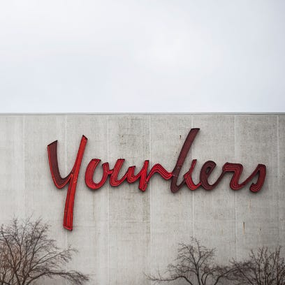 Outside the Younkers store in Valley West Mall on Wednesday,