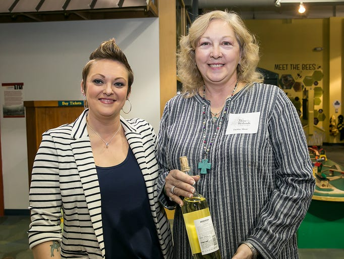 Marie Murrell and Debbie Short at the Wine at the Wetlands