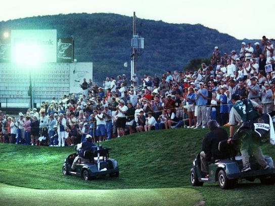 The 1999 B.C. Open playoff pitting Brad Faxon against