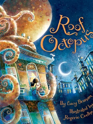 """In """"Roof Octopus,"""" the debut picture book by East Tennessee native Lucy Branam, a young girl named Nora wakes up to find an octopus on the roof of her apartment building, much to everyone's confusion."""