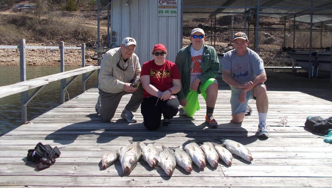 Reynolds had a three day fishing event with Ron, Sam, Rocky and Maddie this past week. It was a long week of fishing but overall the clients had a good time and experienced a new way of fishing for stripers.