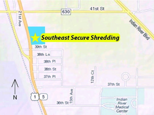 The Residential Paper Shredding Event will be held at Southeast Secure Shredding, located at 3910 U.S. 1, in Vero Beach.
