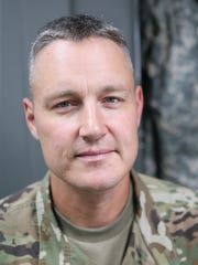 Capt. Jason Doro commands the Oconomowoc-based National Guard C Battery of 1st Battalion, 120th Field Artillery.