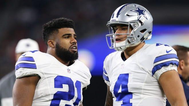 As rookies, Ezekiel Elliott and Dak Prescott helped the Cowboys win the NFC East.
